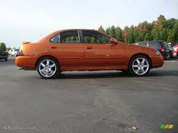 orange nissan sentra volcanic orange 2005 nissan sentra se r exterior photo 55143818