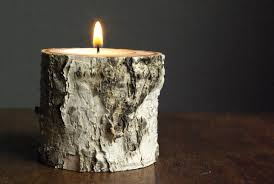 Birch Wood Candle Holders Oleander Palm