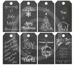 diy printable christmas religious gift tags chalkboard