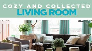 cozy and collected living room makeover video hgtv