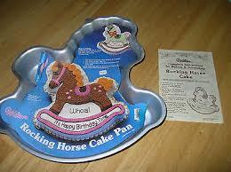 1984 wilton rocking horse pony cake pan discontinued 16 75 picclick