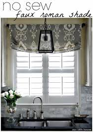 Kitchen Curtain Ideas Pinterest by Diy No Sew Faux Roman Shade Our Fifth House Faux Roman Shades
