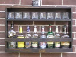 diy liquor cabinet ideas hanging liquor cabinet rustic liquor rack by coolandusefulthings