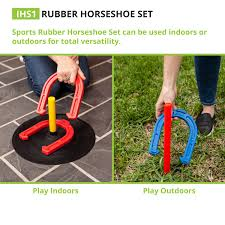 amazon com champion sports rubber horseshoe game for tailgating