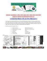 dodge durango 1998 1999 2000 2001 2002 2003 factory service repair wo u2026