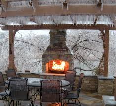 Outdoor Fire Place by Outdoor Fireplaces Projects Hedberg Landscape And Masonry