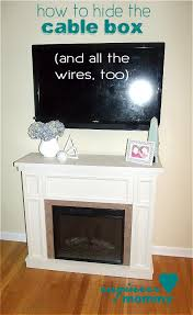 Led Tv Box Design How To Mount Your Tv Outside And Hide The Cable Box And Wires
