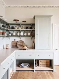 kitchen cabinet ends drawers with open cabinet underneath open shelving ends at