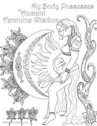 birth affirmation coloring page free printable feminine wisdom