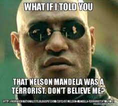 Meme Nelson - what if i told you that nelson mandela was a terrorist don t