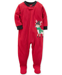 s 1 pc reindeer footed pajamas toddler boys 2t 5t