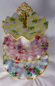 mackenzie childs vase rare discontinued retired mackenzie childs honeymoon 3 tier stand
