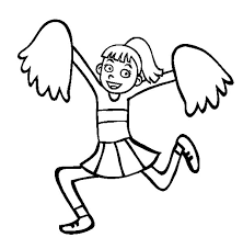 High Spirited Cheerleader Coloring Pages Best Place To Color Coloring Pages For High
