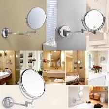 wall mounted extendable mirror bathroom magnifying wall mirrors for bathroom design bathroom lighting