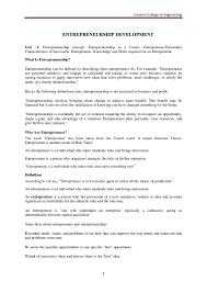 Entrepreneur Resume Entrepreneurship Development