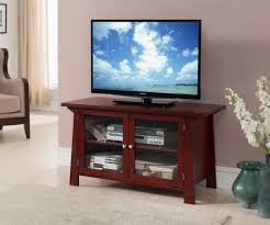glass cabinet doors for entertainment center 42 black or cherry wood entertainment center tv console stand with