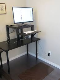 Computer Stand Up Desk by Working With Ikea Stand Up Desk Face Your Job Powerfully Homesfeed