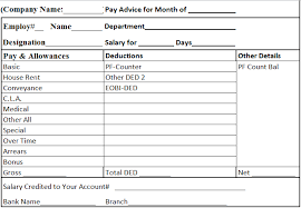 salary slip format in excel word