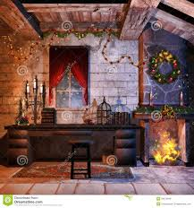 christmas castle room royalty free stock images image 34875949