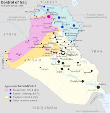 Iraq World Map by Detailed Map Of Territorial Control In Iraq As Of May 20 2015