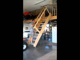 how to build a garage loft rolling garage stairs wmv youtube