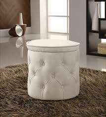beautiful small ottoman with storage elegant bedroom with round