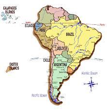 south america map equator south america map