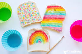 edible paint recipe rainbow bread kids craft room