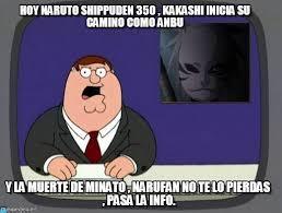 Naruto Meme - hoy naruto shippuden 350 kakashi inicia su on memegen