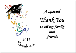 thank you graduation cards class of 2018 graduation thank you cards