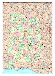 Major Cities Of Usa Map by Large Detailed Administrative Map Of Alabama State With Roads