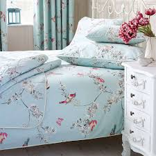 duck egg beautiful birds duvet cover set dunelm beautiful bed