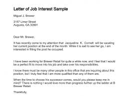 Resume Of Job Application by Letter Of Job Interest