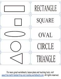 printable shape flashcards