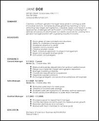 general resume template free creative general manager resume template resumenow