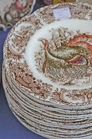 vintage turkey platters early turkey transferware platter