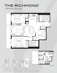 condo floor plan 7 3 bedroom condo floor plans the britt condos the britt condos 3