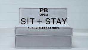 Cushy Sleeper Sofa Sit Stay Cushy Sleeper Sofa Pbteen