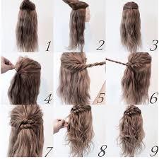 medium hair easy step by step hairstyles for medium hair fashionspick com