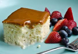 tres leches cake with dulce de leche glaze once upon a chef