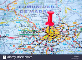 Spain Map Map Of Madrid Capital City Spain Stock Photo Royalty Free Image