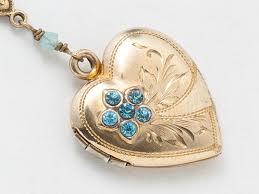 opal necklace vintage images Vintage heart locket gold filled locket heart locket necklace with jpg