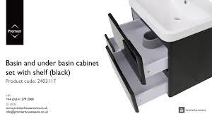 Premier Home Decor Basin And Under Basin Cabinet Set With Shelf Black Premier