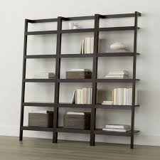 Walnut Ladder Bookcase Ladder Bookcases Crate And Barrel