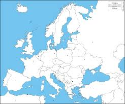 Europe Map And Capitals by Europe Free Map Free Blank Map Free Outline Map Free Base Map