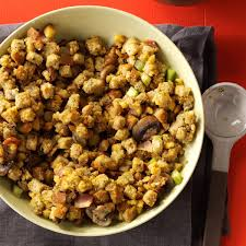 slow cooker thanksgiving stuffing slow cooker bacon mushroom dressing recipe taste of home