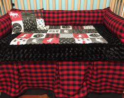 Plaid Bed Set Plaid Crib Bedding Etsy
