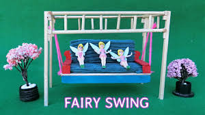 miniature swing for fairy garden popsicle stick crafts youtube