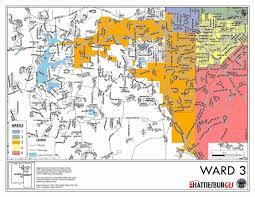 map of hattiesburg ms ward maps city of hattiesburg