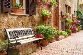 italy photo wallpaper wall murals wallsauce usa a place to sit wall mural